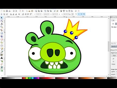 inkscape tutorial cartoon inkscape cartoon tutorial how to draw pig from angry