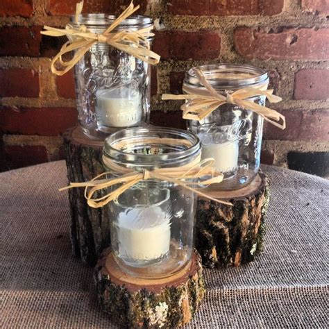 25 best ideas about log centerpieces on