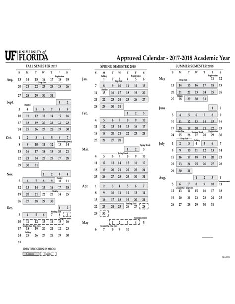 Uf Mba 2017 Summer Calendar by 2017 Calendar Of Florida Free