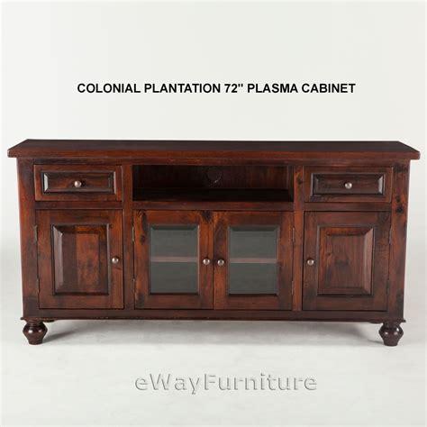 colonial plantation 72 inch plasma cabinet