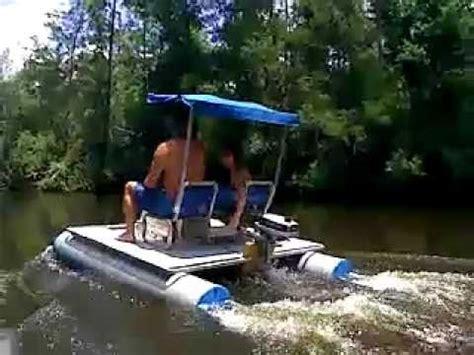 pontoon vs flat bottom boat mini pontoon boat on perdido river youtube