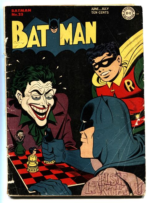 batman dc friends golden book batman 23 1944 classic joker cover dc golden age comic
