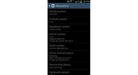screenshot android galaxy s4 android 4 4 2 kitkat update for samsung galaxy s4 now available at verizon update