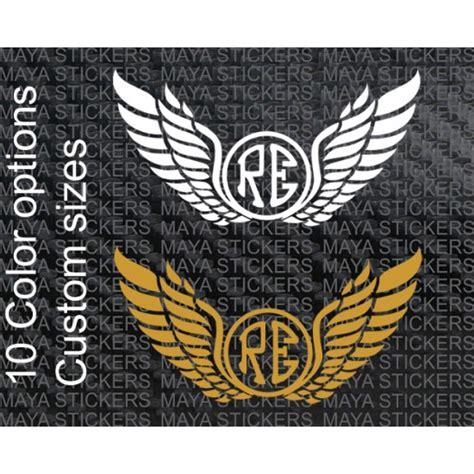 Stiker Re re emblem with wings design custom sticker