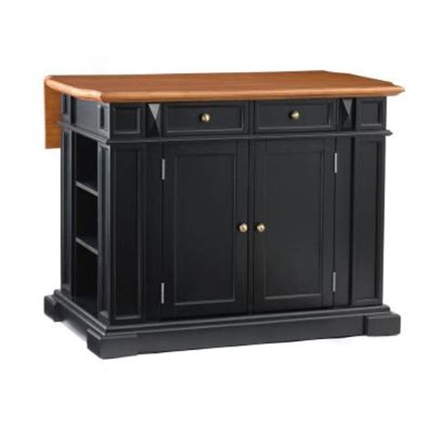 home depot kitchen islands home styles distressed oak drop leaf kitchen island in black 5003 94 the home depot