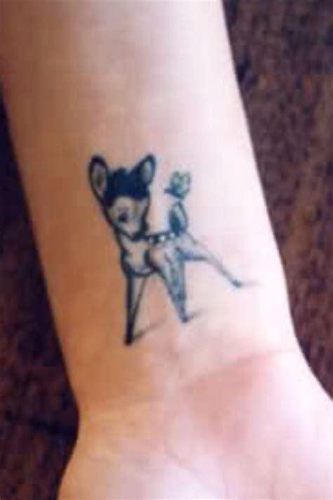 bambi wrist tattoo tat ideas