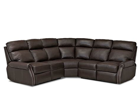 leather sectional sofas with recliners jackie reclining leather sectional clp729 comfort design