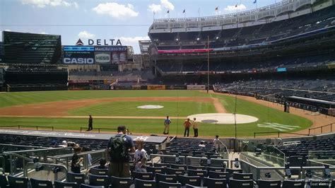 section 113 yankee stadium field level infield yankee stadium baseball seating
