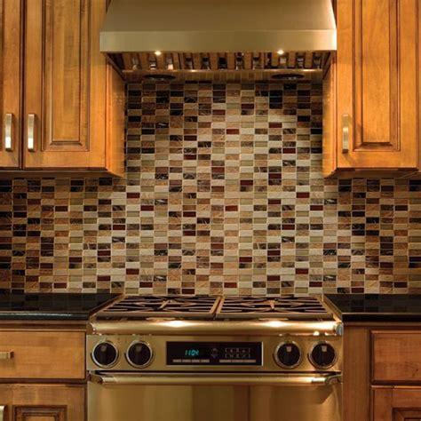daltile melange classic 2 x 1 mosaic on the backsplash