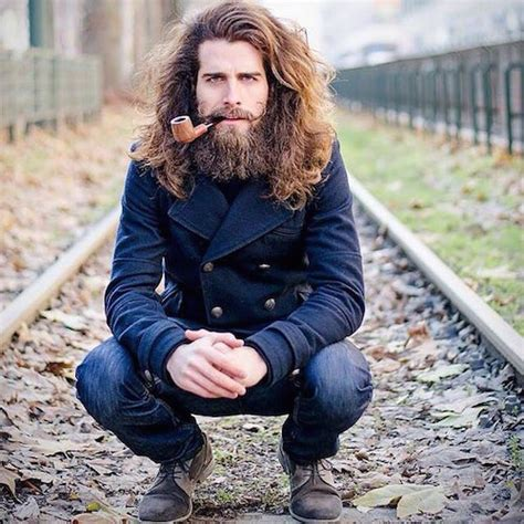 hairstyles for long hair and beard 22 cool beards and hairstyles for men
