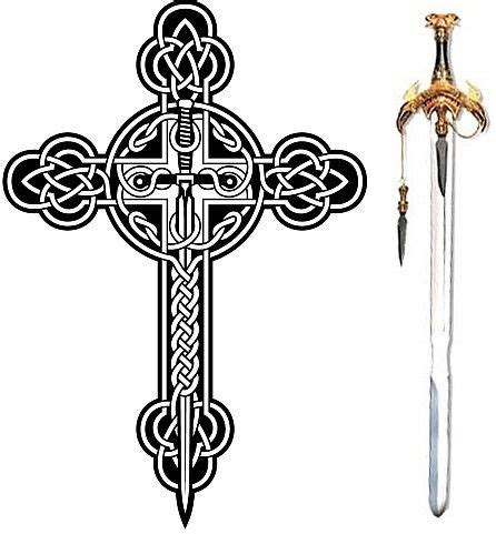 cross sword tattoo solar celtic cross sword religion swords