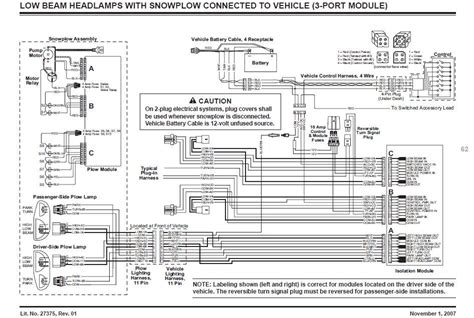 western snow plow wiring diagram pin fisher plow wiring