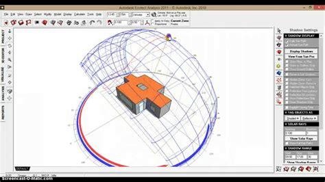 tutorial ecotect analysis movimiento solar youtube