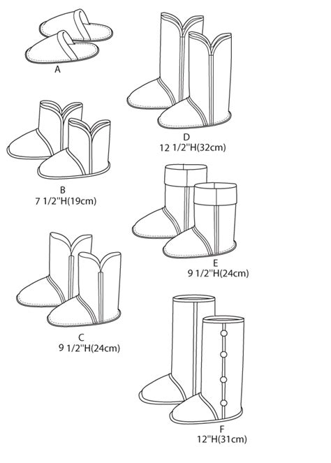 slipper sewing pattern new aussie style slippers boots booties sewing pattern