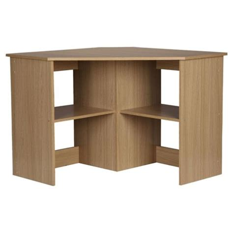 Oak Effect Corner Desk Buy Fraser Corner Desk From Our Office Desks Tables Range Tesco