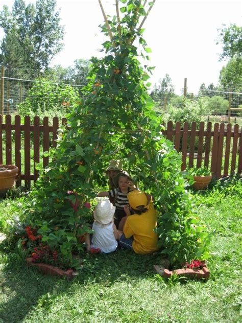 Teepee Bean Trellis joyful toddlers