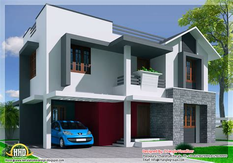 new contemporary mix modern home designs kerala home kerala style modern mix 3 bedroom house kerala home