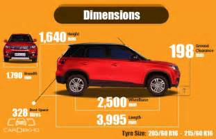 Car Tyre Comparison India Buying Vitara Brezza Here S Everything You Need To