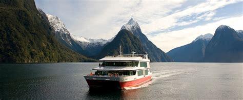 red boat milford sound fiordland te anau manapouri milford sound doubtful