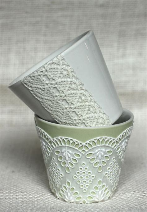 Modern Decoupage Ideas - do it yourself weddings diy lace decoupage vases