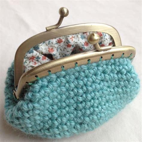crochet pattern frame purse sea green crochet coin purse