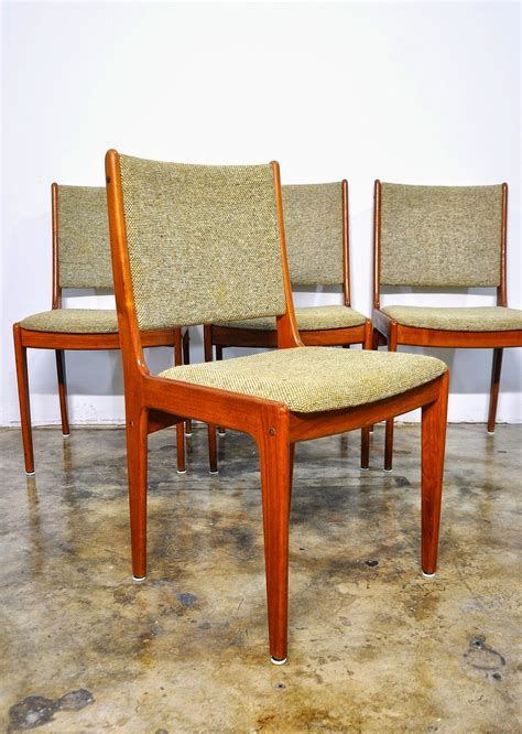 select modern set   danish modern teak dining chairs