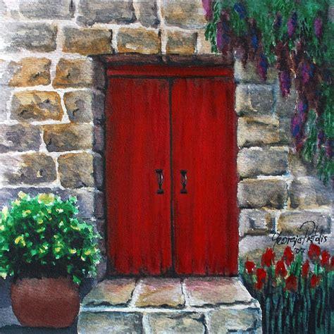acrylic painting door door painting by pistolis