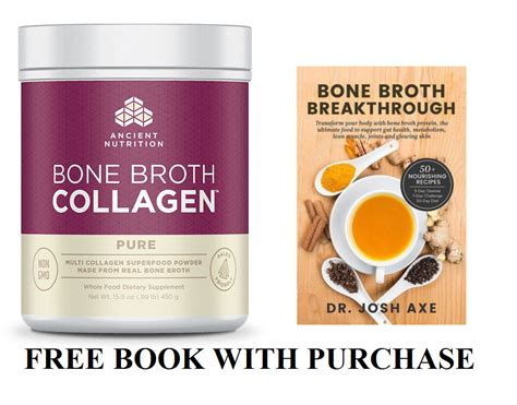 bone broth cookbook 30 delicious nutritious bone both recipes books ancient nutrition bone broth collagen 15 9oz 30 serves