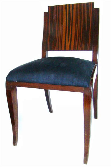 set of 6 deco macassar dining chairs