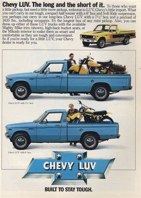 chevrolet luv truck ad car ads camionetas autos