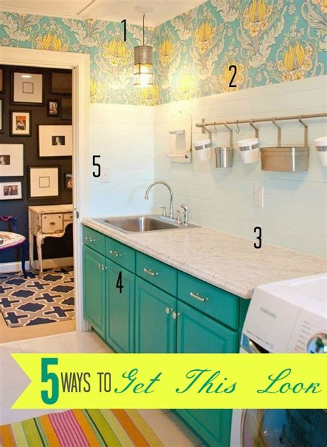 5 ways to get a luxury look for less 5 ways to get this look bright laundry room infarrantly