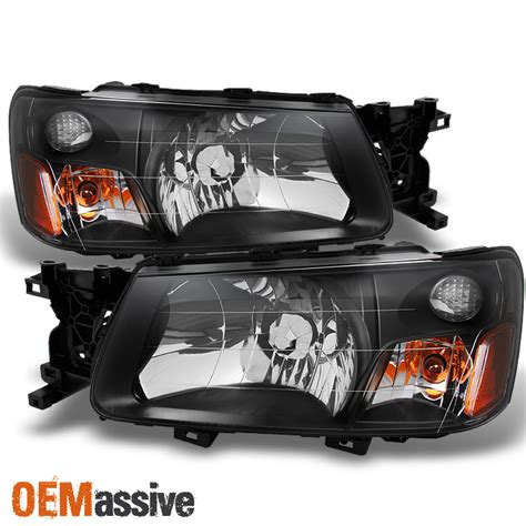 subaru forester headlights 2003 2004 subaru forester sg black bezel headlights