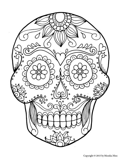 sugar skull coloring page free sugar skull coloring pages printable coloring pages