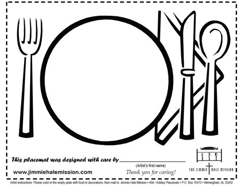 printable placemat jimmie hale project placemats download color mail in