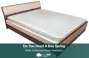 do you need a box with a memory foam mattress