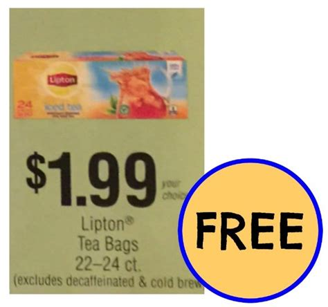 A Tastetea Reminder And Free Tea Offer reminder up your free lipton tea bags at publix