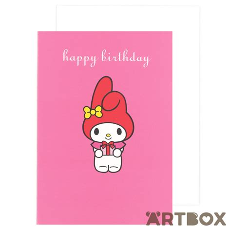 Birthday Cards For My Buy Sanrio My Melody Pink Birthday Card At Artbox