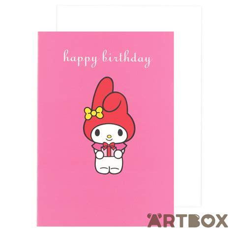 Birthday Card My Buy Sanrio My Melody Pink Birthday Card At Artbox