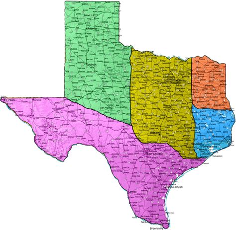 texas cities on map texas map images