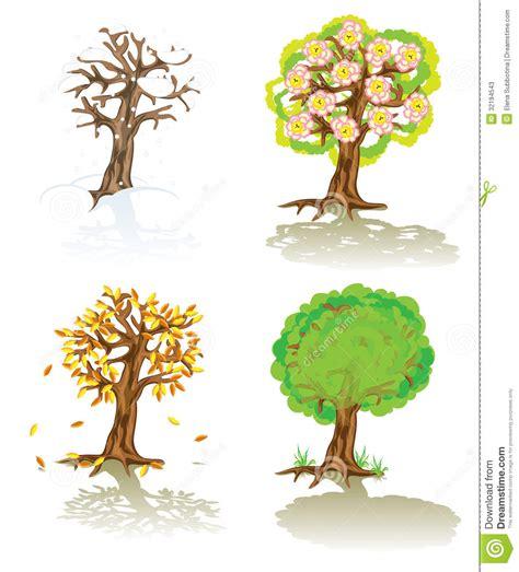 illustration of season trees vector trees of four seasons stock vector illustration of seasons vector 32194543
