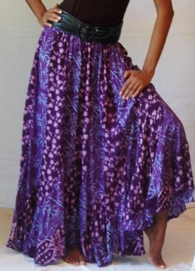Batik Lonceng Ruffle Set batik print bias cut ruffle maxi skirt