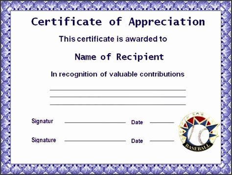 microsoft word certificate of appreciation template 9 ms word certificate of appreciation template