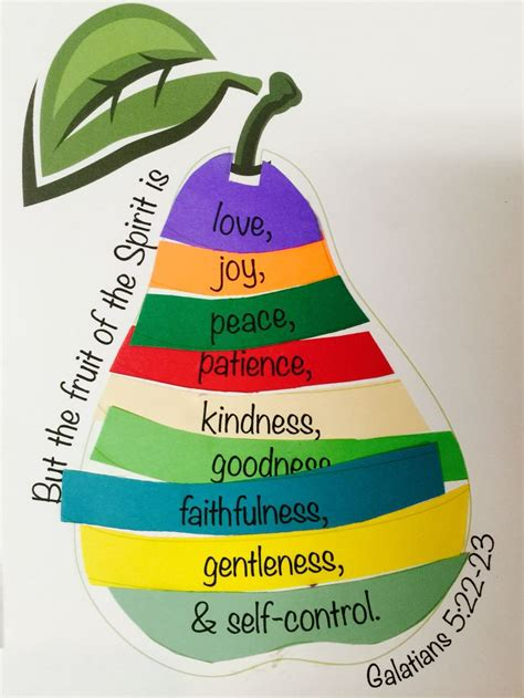 Of Paper Craft - 25 unique fruit of the spirit ideas on bible