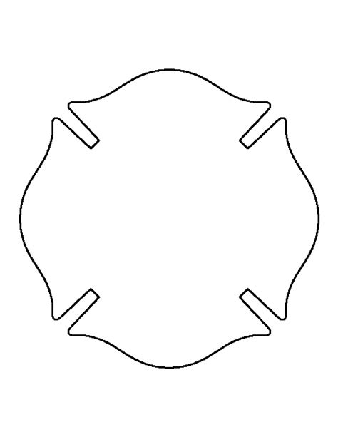 free badge templates fireman badge pattern use the printable outline for