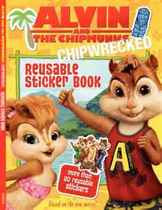 alvin chipmunks chipwrecked reusable sticker