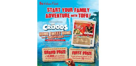 Sweepstakes Open To Legal Residents Of California - house foods america home sweet home sweepstakes