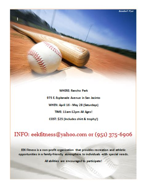 baseball flyer template microsoft word templates