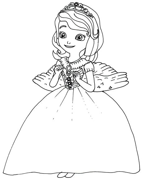 Sofia The First Coloring Pages March 2014 Princess Sofia Drawing Free Coloring Sheets