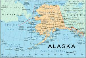 us map with alaska and canada alaska tours lodging ak map