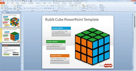 Free Rubik Cube Powerpoint Template Free Powerpoint Templates Slidehunter Com Powerpoint Cube Template